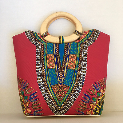 Red Dashiki Ankara Bag