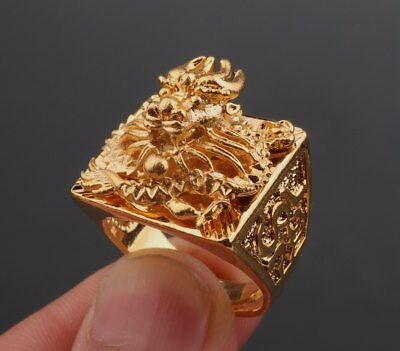 Dragon Statue Adorn Animal Placer Ring Gold High Grade Vietnam Fashionable