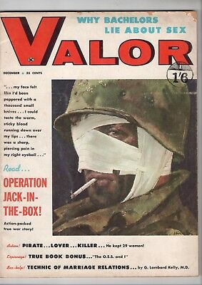 """VALOR Magazine - US Issue December 1959 UK IMPORT """"Why Bachelors Lie about Sex"""""""