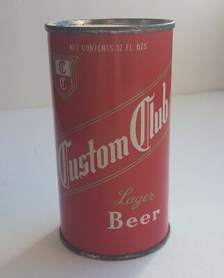 Collectable Custom Club Flat Top Beer Can