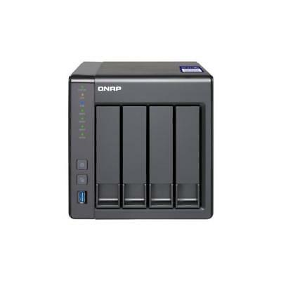 Qnap 431 X 2 - 2 G 4 Bay Desktop 2 Gb Ram Black Black Enclosure