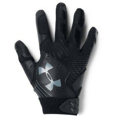 Under Armour Radar Womens Batting Gloves 1299550 - BK/BK/GPH - M