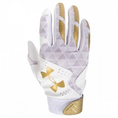 Under Armour Radar Womens Batting Gloves 1299550 - WH/MGO - M