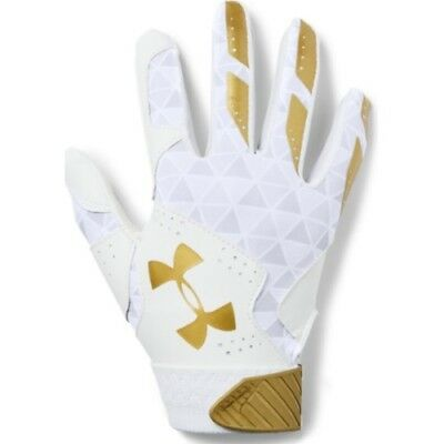 Under Armour Radar Womens Batting Gloves 1299550 - WH/MGO - S