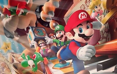 Super Mario Party A4 Poster Picture Print A4 Wall Art Children Kids