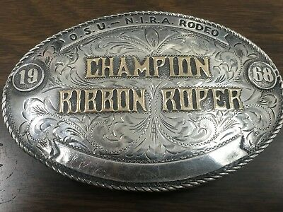 Nelson Silvia Sterling 10K Rodeo Tophy Champion Buckle