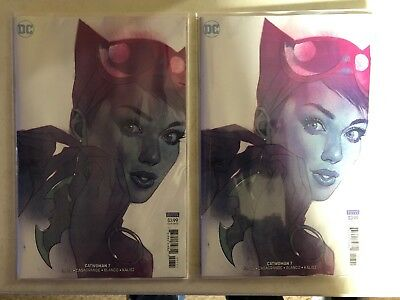 Catwoman #7 NM Variant Ben Oliver Vol 5 DC Never Read Lot Of 2