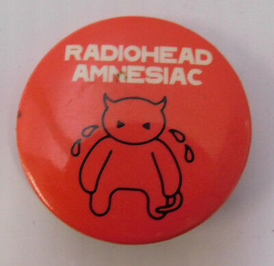 Radiohead Amnesiac Pin Back Button Promo 2001