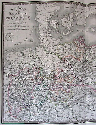 Monarchy of Prussia Baltic Sea North Germany Posen Europe 1856 Brue large map