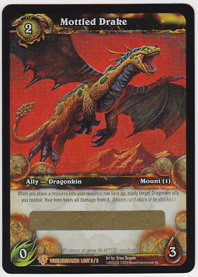 World of Warcraft WOW TCG MOTTLED DRAKE Unscratched Loot Card