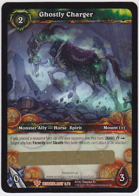World of Warcraft WOW TCG GHOSTLY CHARGER Unscratched Loot Card
