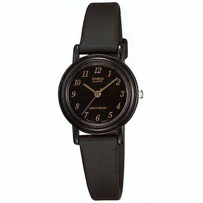 Casio Women's Classic Quartz Black Stainless Steel and Leather Watch LQ139A-1