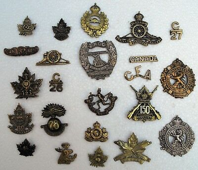 Collection Canadian Army Badges  WWI