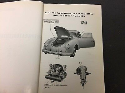 Oem Porsche 356 A Repair Manual German / Reparaturleitfaden 1954 !!!