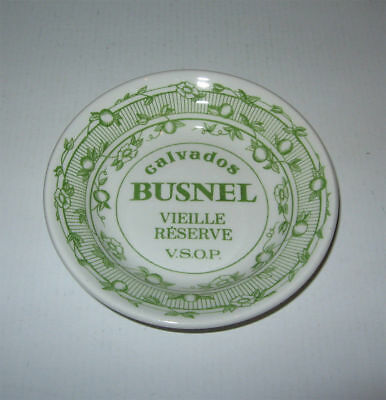 Cendrier Vide-Poches ,calvados Busnel Vieille Reserve,tbe,faience Gien,ashtray