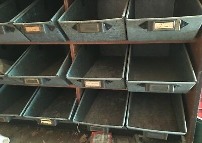 Antique nail bins/case from old general store/hardware store