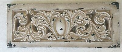 Vtg Large Faux Plaster Cement Concrete Wall Architectural Hanging Shabby Chic Pc