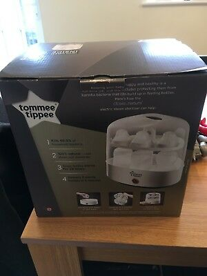Tommee Tippee Closer to Nature Electric Steriliser - used twice only - Boxed