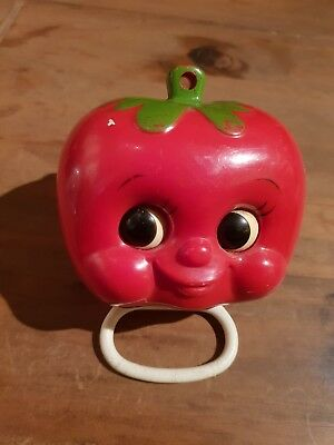 Vintage 1974 Sankyo Tomato Musical Egg Timer With Moving Eyes fully working