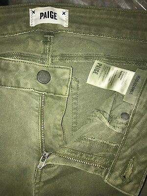 Paige Denim Jeans Verdugo Ankle Rustic Olive Green Womens Size 29