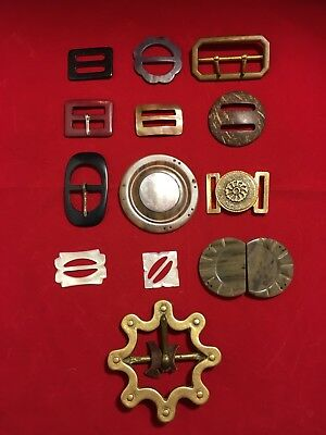 collection of belt buckles vintage clothing