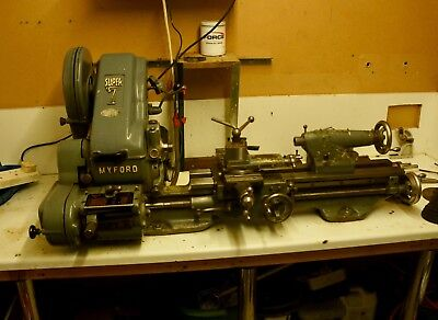 Myford super 7 lathe with many extra's