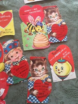 vintage valentines lot of 17, 1950 and 60s. No writing