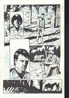 3 Devils page 78 graphic novel Art Bo Hampton [2 versions]