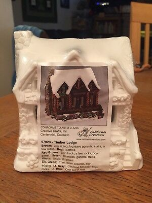 California Creations TIMBER LODGE # 97023 Unpainted Christmas Village House