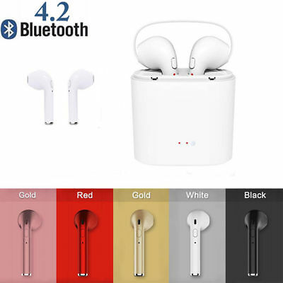 I7S TWS earphone Wireless Bluetooth 4.2 helmet for iphone and phone Android