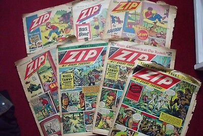 'ZIP Comics' - 7 Issues - 1958/9 - Various conditions