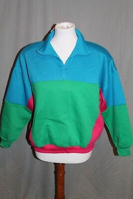 NWT Vintage Starting Point Pullover Jacket Bright Colors Size Medium Petite