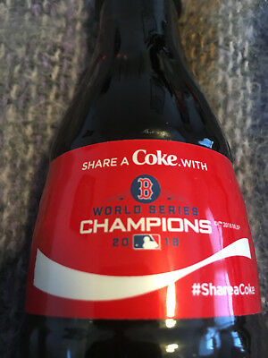 2018 Coca Cola Share A Coke With Boston Red Sox World Series Champions 8Oz Mlb