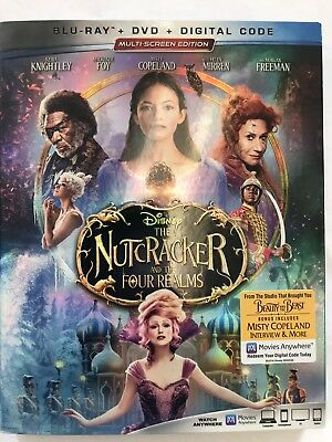 The Nutcracker and the Four Realms (BLU-RAY ONLY 2018) Case+Artwork INCLUDED.