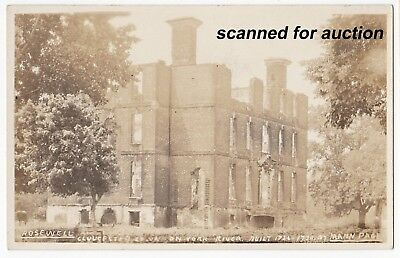 c1920/30s rppc - GLOUCESTER CO., VIRGINIA - The Ruins of Rosewell, Burnt 1916