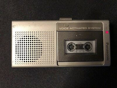 Vint Panasonic Voice Activated Micro Cassette Recorder RN-109A Box Guide As Is