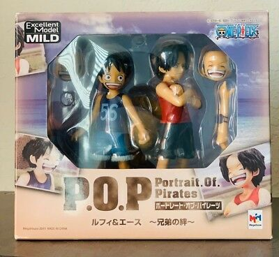 Megahouse Portrait.Of.Pirates One Piece CB-EX Luffy & Ace Figure US seller