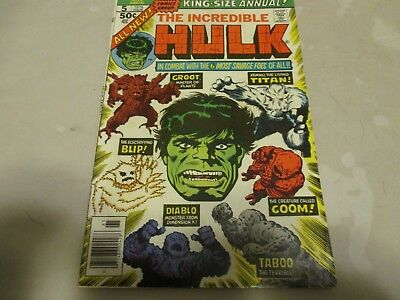 The Incredible Hulk Annual #5, Key Issue,2nd App of Groot, Clairmont & Buscema,