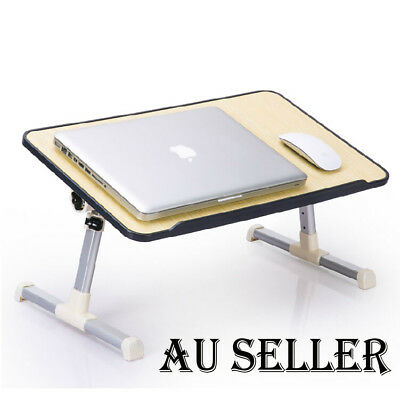 2019 Laptop Desk Wooden Folding e-Table Bed Tray Table w/ USB Cooling Fans