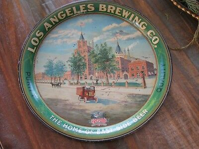 Early Pre-Pro Los Angeles Brewing Co. Factory Scene Beer Tray