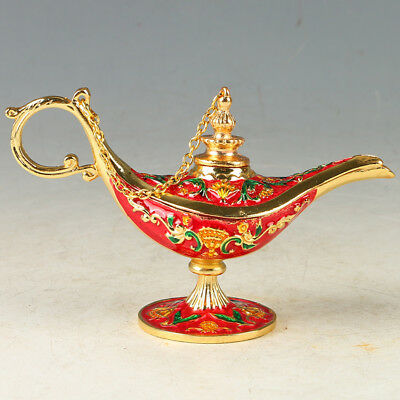 Chinese Exquisite Cloisonne Handmade Teapot Shape  Statue  R0086