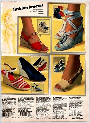 Disco Platform Shoes Clogs Boots Print Ads Clippings 1970'S VINTAGE