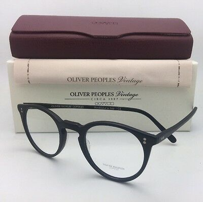 2970f87870493 Oliver Peoples Vintage Lunettes O Malley Ov 5183 1465 45-22 Mate Cadres  Noirs