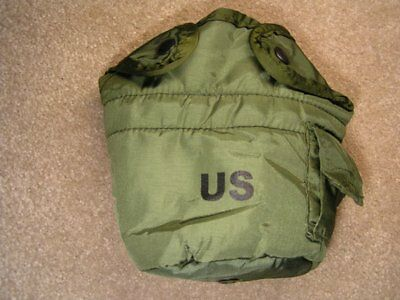 USGI 1 Quart Water Canteen Cover with Clips  OD Green   NO CANTEEN