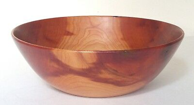 Vintage Modernist Turned Wood Bowl Stocksdale, Osolnik Era Signed