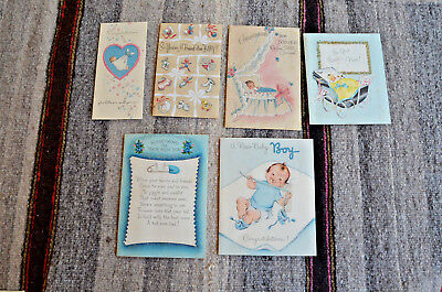 35 Vintage Congratulatory Birth of a Baby Boy Cards and Related Items From 1956
