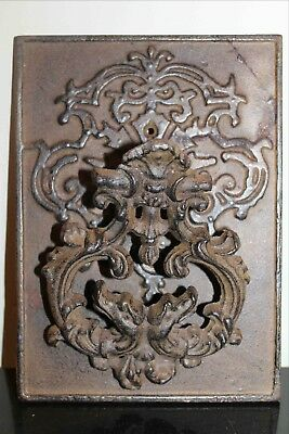 """Large Cast Iron Door Knocker, 8 5/8"""" Tall by 6.25"""" Wide"""