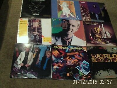 Awesome Lot Of Cool Rock Vinyl Records Check These Out Great Gift