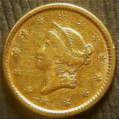1851 Type I Gold Dollar;  Gold $1 coin.