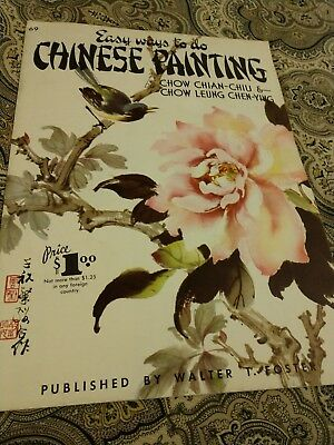 Vintage Walter T. Foster Easy Ways To Paint Chinese Painting Art Instruction...